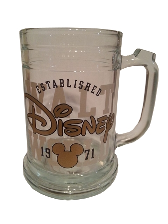 Disney Glass Mug - Walt Disney World 1971 Logo