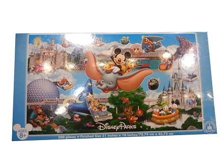 Disney Parks Puzzle - Storybook Panoramic Puzzle