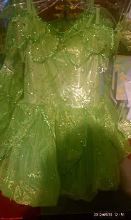 Disney Costume Dress for Girls - Tinker Bell  - Green