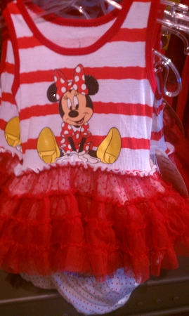 Disney Dress for INFANT - Minnie Mouse - Ruffled Tutu - Red