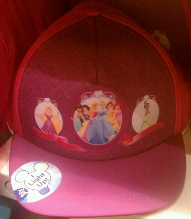 Disney Hat - Baseball Cap - Princess Light Up
