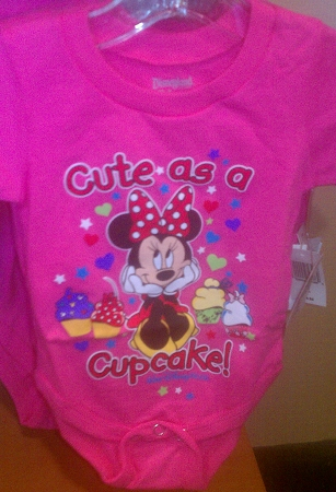 Disney Bodysuit for BABY - Minnie Mouse - Cute as a Cupcake