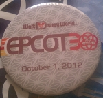 Disney Souvenir Button - Epcot 30th Anniversary