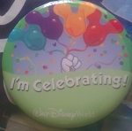 Disney Souvenir Button - Mickey Mouse Balloons - I'm Celebrating