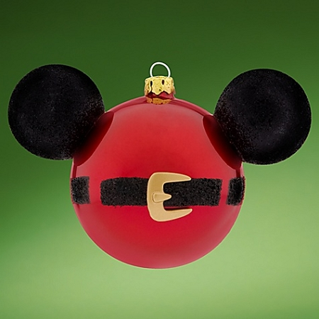 Disney Mickey Ears Icon Ornament - Santa Mickey Mouse Belt