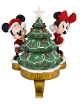 Disney Stocking Holder - Santa Mickey and Minnie Mouse with Tree