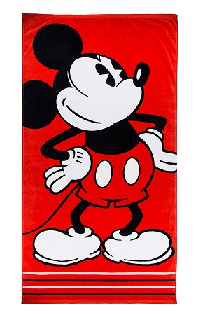 Disney Beach Towel - Mickey Jacquard Striped