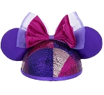 Disney Hat - Ears Hat - Colorful Minnie Sequined with Bow