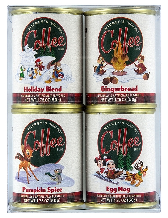 Disney Mickey's Really Swell Coffee - Holiday Coffee - Flavored - 4 Pc