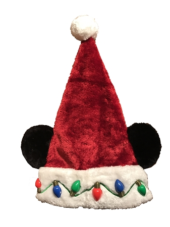 disney christmas hat santa mickey mouse ears light up lights