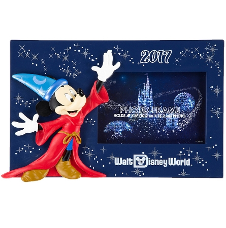 Disney Photo Frame - 2017 Sorcerer Mickey Mouse Resin - 4 x 6