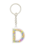 Disney Keychain - Initial Letter - Colorful Mickey Icons