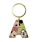 Disney Keychain - Initial Letter - Mickey and Friends