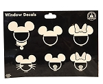 Disney Window Decal Set - Family with Mickey Ear Hats - Set of 10