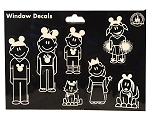 Disney Window Decal Set - Family Mickey Mouse Icons - Set of 15