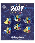 Disney 2017 Pin Set - Mickey Mouse and Friends - Set of 6