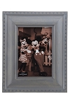 Disney Photo Frame - Mickey Mouse Icon Outline - Gray - 5 x 7