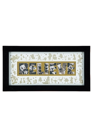 Disney Photo Frame - Character Believe Collage - Wood