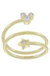 Disney Birthstone Ring - Star and Mickey Mouse - Gold
