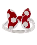 Disney Ring - Minnie Mouse Dot Bow - Silver