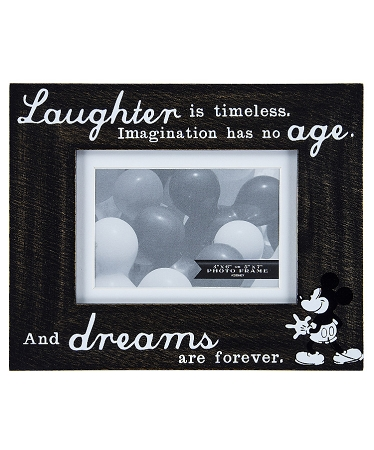 Disney Photo Frame - Mickey Mouse - Laughter is Timeless - 5x7 or 4x6