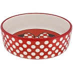 Disney Tails Pet Bowl - Minnie Mouse - Polka Dot Bow