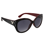 Disney Sunglasses - Mickey Mouse Icons with Jewels - Maroon and Black