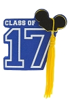 Disney Antenna Topper - 2017 Graduation - Class of 2017