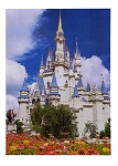 Disney Postcard - Cinderella Castle with Flowers - Magic Kingdom