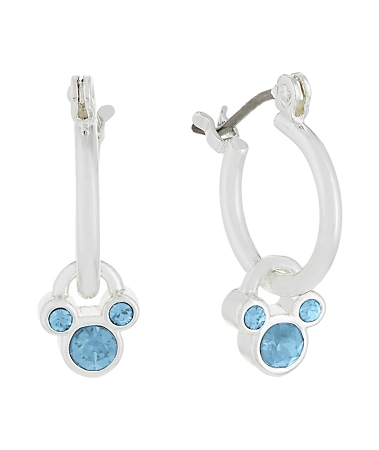 f8346eda1 Add to My Lists. Disney Earrings - Mickey Icon Hoops - Birthstone - Select  Color