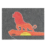 Disney Postcard - Pride Rock - Lion King - By Visintainer