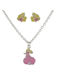 Disney Necklace and Earrings Set - Aurora - Sleeping Beauty