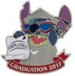 Disney Graduation Day Pin - 2017 Graduation's Day - Stitch