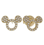 Disney Crislu Earrings - Mickey O Icon - Gold