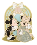 Disney Wedding Pin - Mickey and Minnie in a Chapel