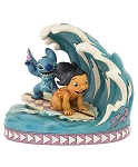 Disney Jim Shore Figurine - Lilo and Stitch - Surf Boarding