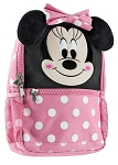 Disney Backpack Bag - Minnie Mouse Face with Plush Ears
