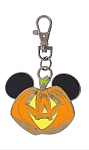 Disney Lanyard Metal - Halloween Mickey Pumpkin