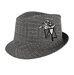 Disney Hat - Fedora Hat - Jack Skellington and Zero - Plaid - Youth