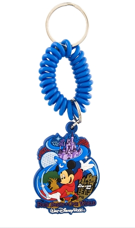 Disney Keychain - Walt Disney World Icons with Wrist Strap