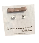 Disney Post Earrings - Mickey Mouse Icon with Gift Bag - Silver
