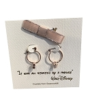 Disney Earrings - Mickey Mouse Small Hoop with Gift Bag - Gold
