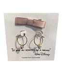 Disney Earrings - Mickey Mouse Small Hoop with Gift Bag - Rose Gold
