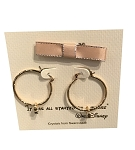 Disney Earrings - Mickey Mouse Hoop with Gift Bag - Gold