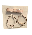 Disney Earrings - Mickey Mouse Hoop with Gift Bag - Rose Gold