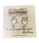Disney Earrings - Mickey Mouse Small Hoop with Gift Bag - Silver