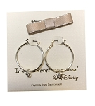 Disney Earrings - Mickey Mouse Hoop with Gift Bag - Silver