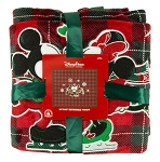 Disney Throw Blanket - Holiday Mickey and Minnie Skating