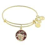 Disney Alex and Ani Bracelet - Santa Mickey and Minnie - Gold