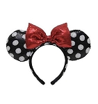 Disney Ears Headband Hat - Minnie Mouse Polka Dot - Black and White